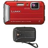 Panasonic DMC-TS30R LUMIX Active Lifestyle Tough Camera (Red) + Swiss Gear Case