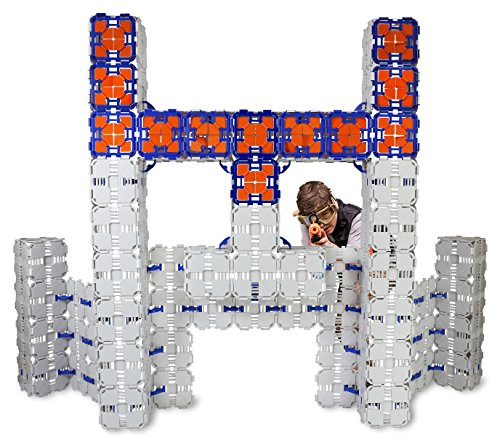 Blaster Boards - 6 Pack | Kids Fort Building Kit for Nerf Wars & Creative Play | 276 Piece Set