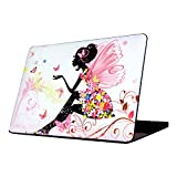 MacBook Air 13 Case, Allytech New Art Fashion Image Series Matte Rubberized Hard Case Cover for Apple MacBook Air 13.3'' (A1466 & A1369) (Butterfly Girl E)