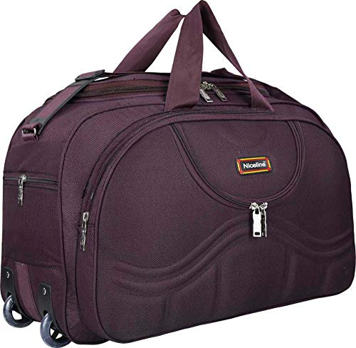 nice line Fabric 1.96 inches Travel Duffle Bag with Roller Wheels