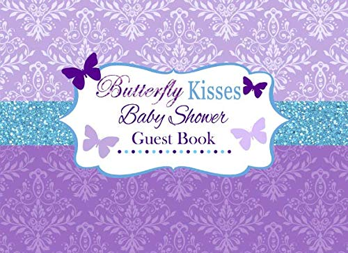 Butterfly Kisses Baby Shower Guest Book: Advice for