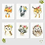baby girl bedroom ideas Woodland Animals Nursery Wall Decor Prints (Set of 6) - Baby Shower Gift Ideas Wall Art Prints - Unframed - 8 x 10""