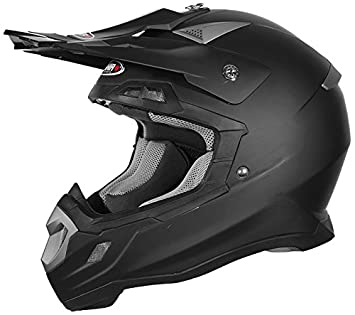 Shiro mx-917 casco, sólido, color negro mate, ...