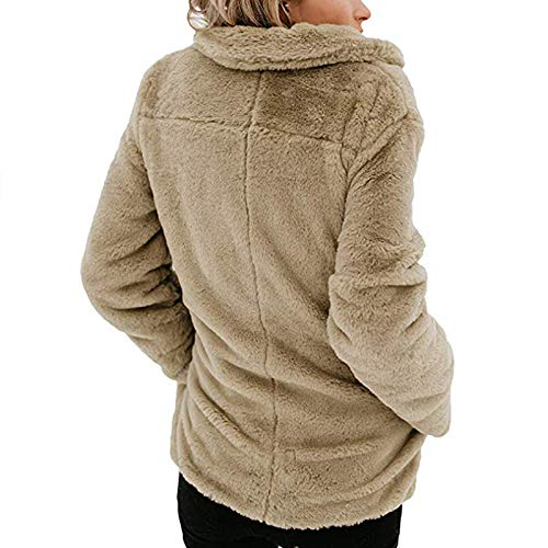 Coat Chaud Beige Femme Revers ASSKDAN Femmes Cardigan Sweater Veste Hooded Outerwear Manteau BgZnqAw