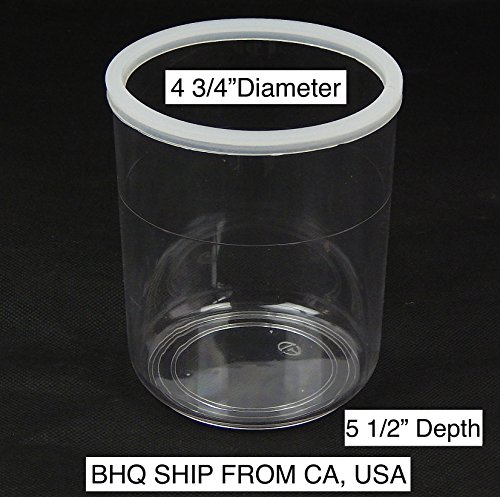 Facial Steamer Jar – High Temperature Plastic PC Jar 4 1 2 Diameter X 5 1 2 Depth