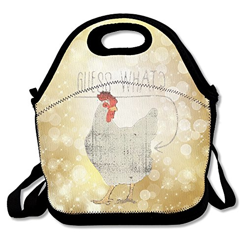 Guess What Chicken Butt Portable Lunch Box Tote Bag Rugged Lunchbox