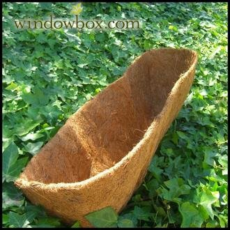 Coconut or Coco Liner for Standard Size Baskets & Troughs - Liner Is 24 Inch x 8 x 8 by Windowbox