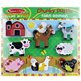 Melissa and Doug Farm Wooden Chunky Puzzle, Baby & Kids Zone