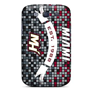 Shock-Absorbing Hard Phone Case For Samsung Galaxy S3 (sLE758oqCm) Allow Personal Design Colorful Miami Heat Series