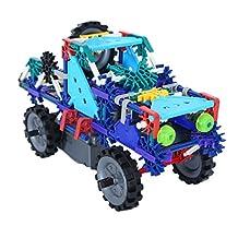 Genius Pro Toy Interlocking Building Sets STEM Toys Brain Training Gear Block Toys Car DIY Battery Operated Toys