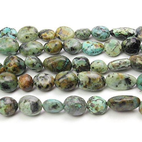 Irregular Turquoise Necklace Shape - JARTC Natural Irregular Shape Stone Beads 8-10mm Africa Turquoise Gemstone Energy Cured for Jewelry Making Necklaces