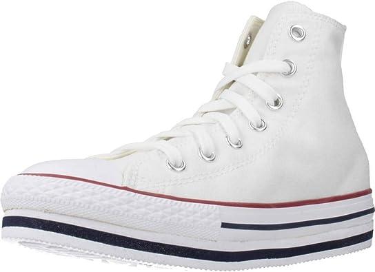 Color Blanco White Marca CONVERSE Zapatillas para ni�o Modelo Zapatillas para Ni�o CONVERSE Chuck Taylor All Star PLATF Blanco