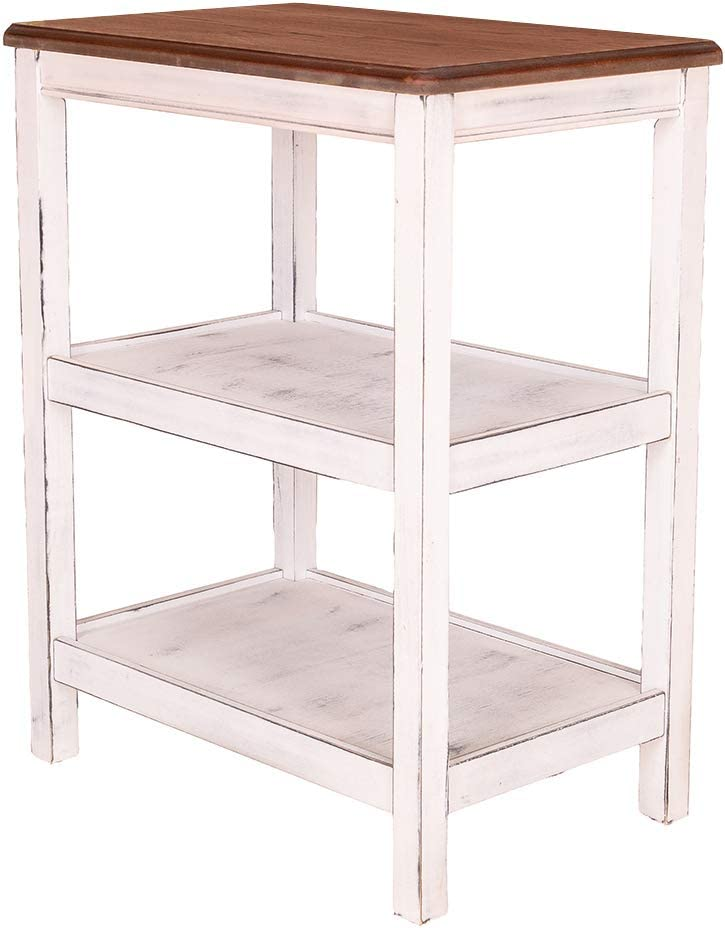 GRAFZEAL Vintage Kitchen Utility Storage Shelf Baker's Rack 29.7 Microwave Stand 3-Tier Shelf
