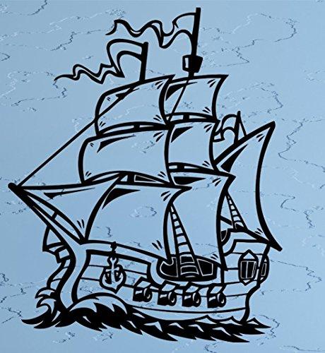 - l Ship Sailboat Sea Ocean Waves Gun Frigate Helm Wax Seal Stamp