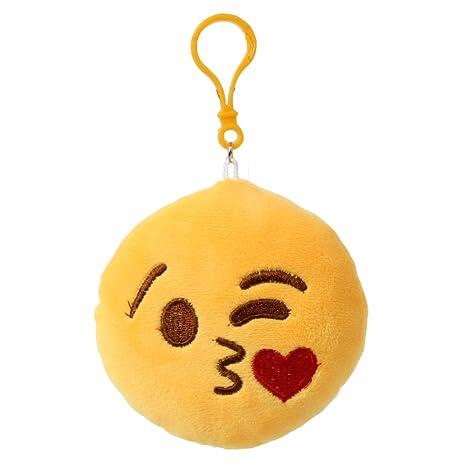 Llavero Emoji Emojicon 10 cm con cordel y Carabina ...