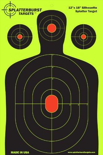 Review Splatterburst Targets – 12 x18 inch – Silhouette Reactive Shooting Target – Shots Burst Bright Fluorescent Yellow Upon Impact – Gun – Rifle – Pistol – AirSoft – BB Gun – Air Rifle (10 pack)