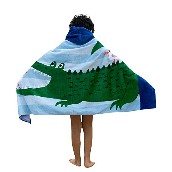 Buy Lavany Kids each Bath Towel Cover-Ups For Boys Girls, Childrens Cute  Cartoon Printed Hooded Swimsuit Wraps Beach Cloak at Amazon.in