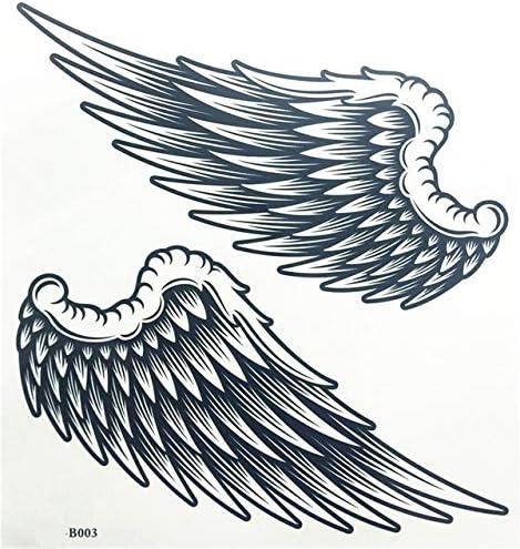 AZJTZ Alas de ángel Raver Brazo Pierna Cuerpo Arte Impermeable ...