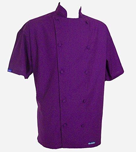 Chefskin XL Chef Jacket Coat Purple Ultra Ligthweight Coo...