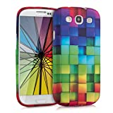 kwmobile TPU SILICONE CASE for Samsung Galaxy S3/S3 Neo Rainbow Cubes multicolor green blue - Stylish designer case made of premium soft TPU