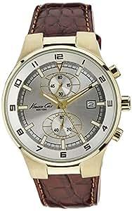 Kenneth Cole Quartz Leather Cream Dial Men's Watch - KC1345