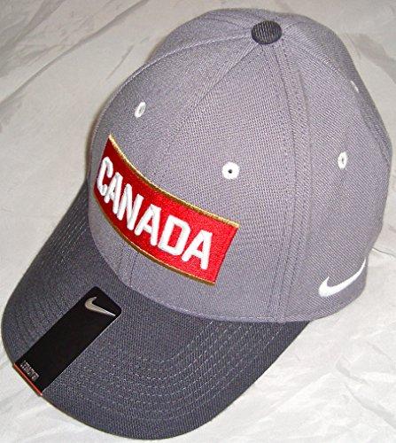 Nike Team Canada IIHF 2014 Olympic Hockey Gray/Black/Red Swo