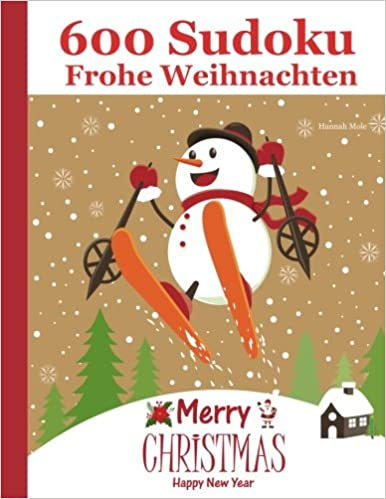 600 Sudoku Frohe Weihnachten - Merry Christmas - Happy New Year ...