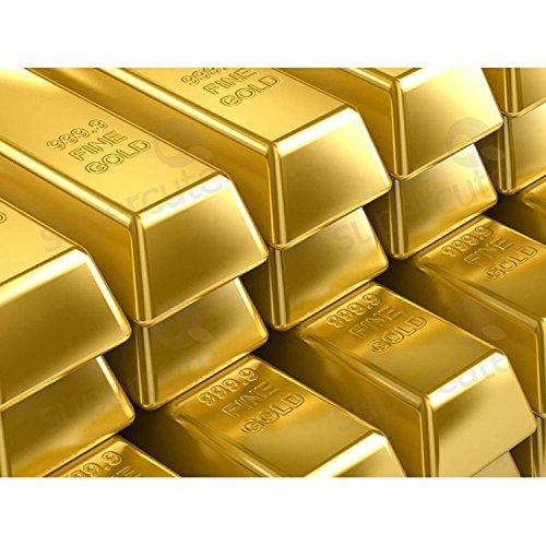 Xshelley 1kg Shiny Fake Gold Bar Bullion Brick Door Stop/Paperweight CAS ()