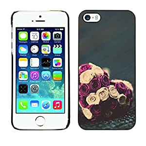 Plastic Shell Protective Case Cover    Apple iPhone 5 / 5S    Valentines Bouquet Floral @XPTECH