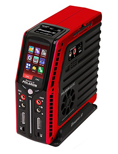 Red greypner Polaron AC DC Charger, Black