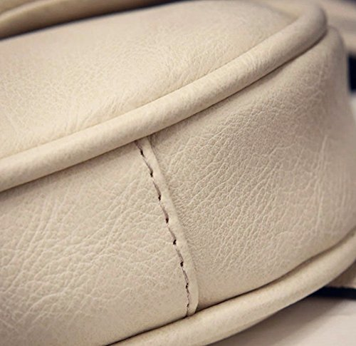 Faux Women's Trendy junkai Tassel Handbag White Leather Zip Crossbody Handbag Mini Crossbody 0qZ4xc4wFd