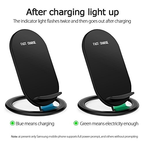 Hootech iPhone X Wireless Charger, QI Fast Wireless Charging Pad Stand, Standard Charge for Samsung Galaxy Note 8 S9 Plus S8 Plus S8 S7 S7 Edge Note 5, Standard Charge for iPhone X iPhone 8/8 Plus by Hootech (Image #5)