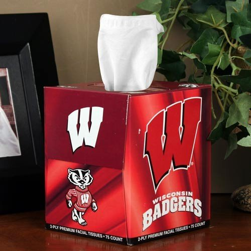 (NCAA Wisconsin Badgers Box of Sports Tissues)