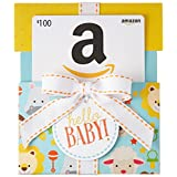 Amazon.ca $100 Gift Card in a Hello Baby Reveal (Classic White Card Design)