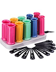 Zinnor Hot Rollers for Long Medium Short Hair Travel Hair Roller with Clips Electric Heating Pear Hair Ceramic Hot Harmless Hair Curlers Set Hair Sticks Tube Dry Wet Curly 10 Hair Rollers Two Size
