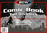 4 Packs of 25 Tall Comic Book Dividers for Comic Book Storage Boxes - 100 Dividers