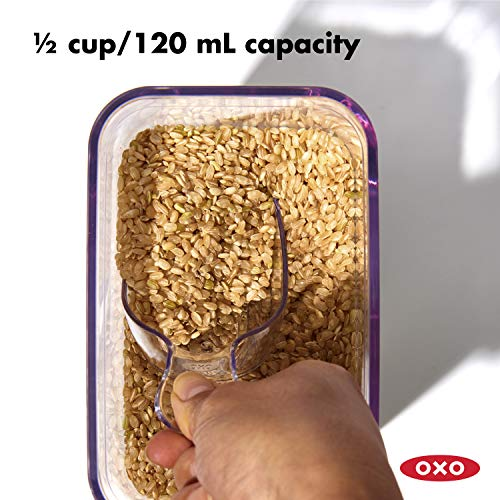 OXO 11235200NEW  Good Grips POP Container 1/2 Cup Scoop,Clear