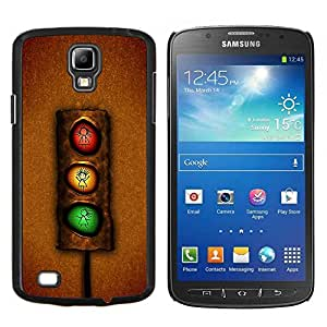 EJOOY---Cubierta de la caja de protección para la piel dura ** Samsung Galaxy S4 Active i9295 ** --Semáforo divertido