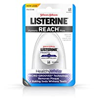 Listerine Healthy White, Interdental Floss, Oral Care And Hygiene, Mint, 30 Yards