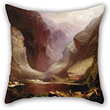 Slimmingpiggy Throw Cushion Covers Of Oil Painting Fearnleigh Montague - Mount Warning, New South Wales,for Father,coffee House,him,christmas,monther,wife 16 X 16 Inches / 40 By 40 Cm(both Sides)