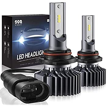 SEALIGHT 9005 HB3 LED Headlight Bulbs High Beam Conversion Kit,Non-Polarity,Upgraded 12xCSP Chips Head light Halogen Replacement 6000K Xenon White(Pack of ...