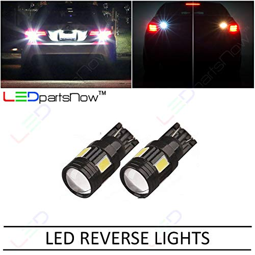 LEDpartsNow WHITE LED Exterior Back Up Reverse Lights Replacement for 2008-2017 Dodge Challenger (2 Bulbs), T10 T15 921 912 906 901 909