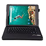 Asuxtek ® HTC Nexus 9 8.9 inch 2014 release Version tablet Bluetooth Keyboard Portfolio Case - DETACHABLE Bluetooth Keyboard Stand Case / Cover with Auto sleep / wake function, only fit HTC Nexus 9 tablet (PU Keyboard case)