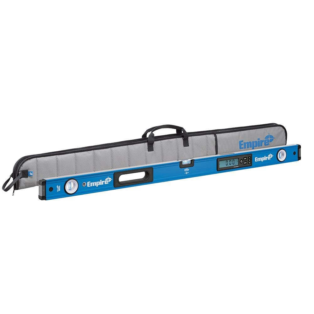 Empire 72 in. True Blue Digital Box Level, Industry's First Auto-Calibrated Digital Level with 7 Measuring Modes, Protective Storage Case Included