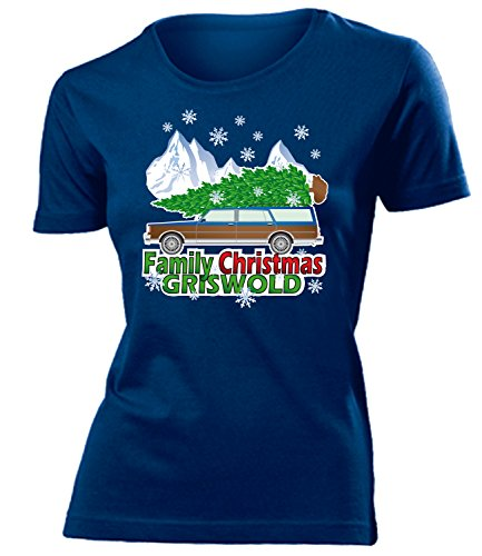 WEIHNACHTEN - FAMILY CHRISTMAS GRISWOLD - Cooles Fun mujer camiseta Tamaño S to XXL varios colores Marina