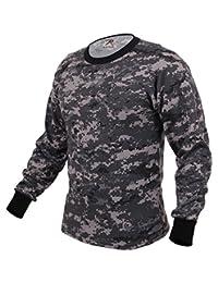 Rothco Long Sleeve Digital Camo T-Shirts, Subdued Urban Digital Camo - Large