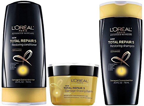 LOreal Restoring Shampoo Conditioner Damage Erasing