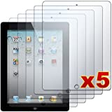 Apple iPad 2 - 5 Premium Clear LCD Screen Protector Cover Guard Shield Films [AccessoryOne Brand]