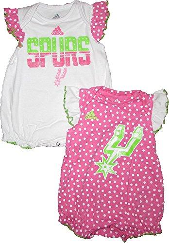 - San Antonio Spurs 2pc Creeper Set Pink Dots Infant Baby (0-3 Months)