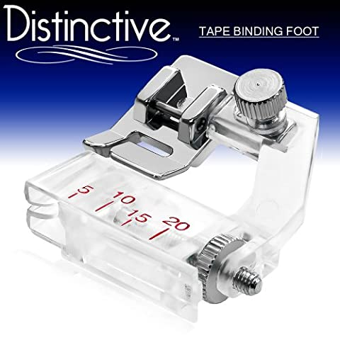 Distinctive Tape Binding Sewing Machine Presser Foot - Fits All Low Shank Snap-On Singer*, Brother, Babylock, Euro-Pro, Janome, Kenmore, White, Juki, New Home, Simplicity, Elna and - Euro Pro Sewing